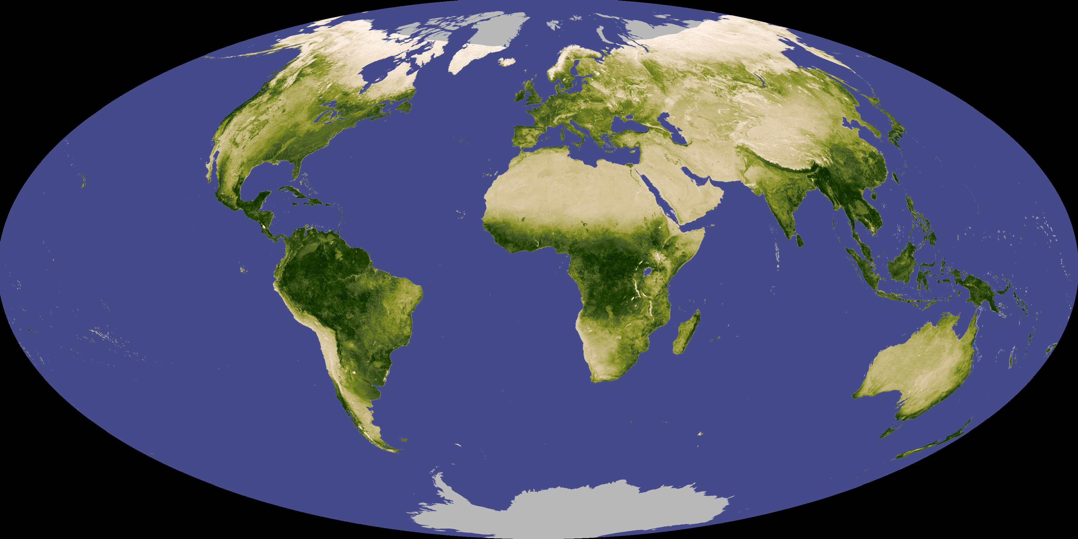 Satellites monitor how 'greenness' changes with Earth's seasons. Image source: NASA (via UCR) Image credit: None
