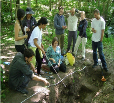 Meteorite impact crater dating project by Early Career Scientists during a summer school of the European Astrobiology Campus. Source: W. Geppert Image credit: None