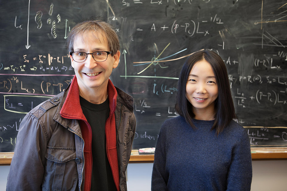 Nigel Goldenfeld (left) and Chi Xue (right) have developed a model that reveals an 'arms race' between bacteria and viruses that may help to solve the diversity paradox. Source: UIUC Image credit: None