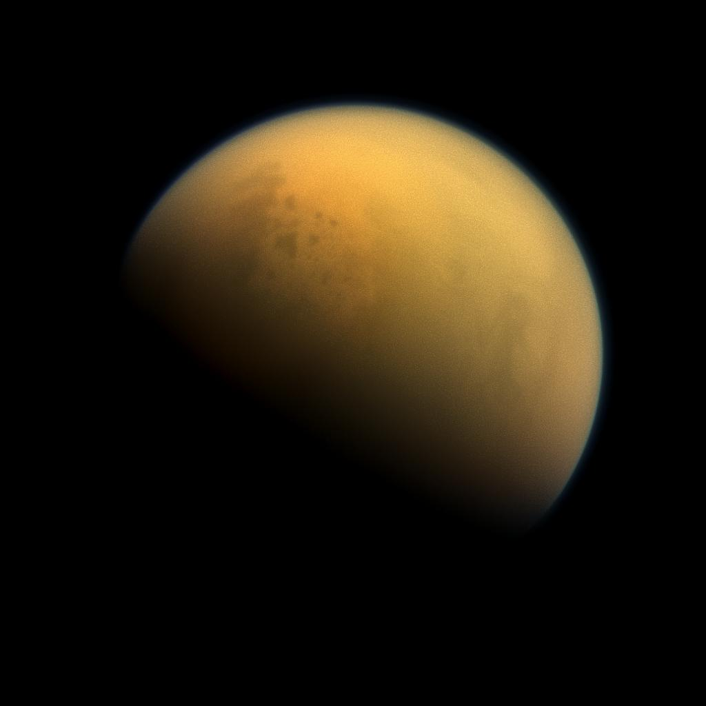 Saturn's largest moon, Titan, hides a subsurface ocean that potentially could support life.