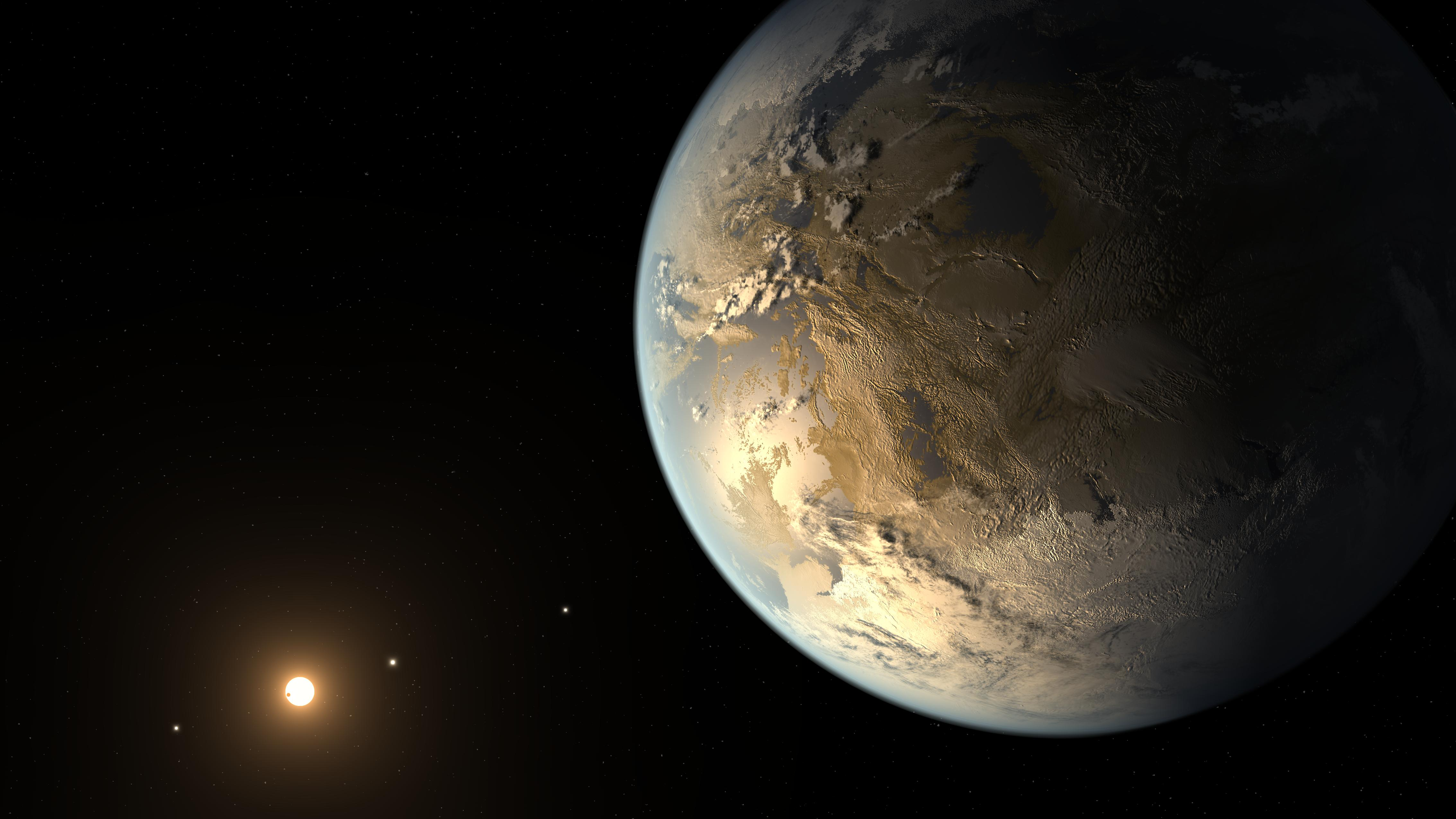 An artist's impression of the rocky exoplanet Kepler-186f, which is one of the most promising candidates for a planet could potentially be habitable, but how similar or different does it have to be compared to Earth to be able to support life? Image credit: NASA/Ames/SETI Institute/JPL–Caltech. Image credit: None