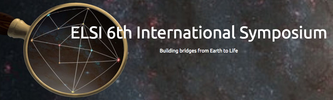 The 6th ELSI International Symposium: Building Bridges from Earth to Life: From Chemical Mechanism to Ancient Biology at the Tokyo Institute of Technology takes place January 9th-11th, 9AM-5PM (Japan Standard Time). Image credit: None
