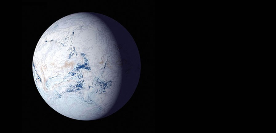 "An artist's impression of a ""Snowball Earth"". Image credit: NASA. Image credit: None"