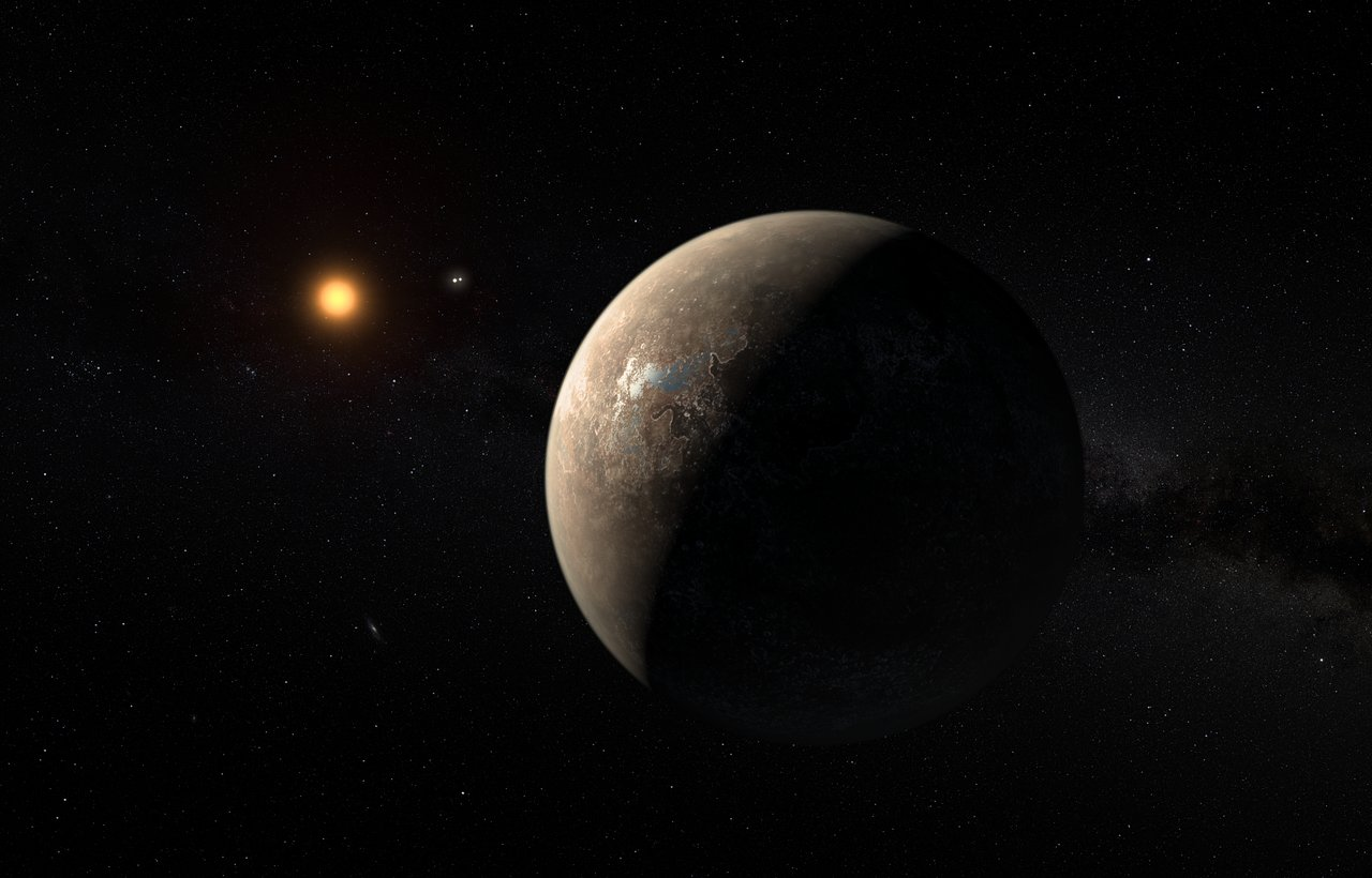 Artist's impression of the planet orbiting Proxima Centauri. Credit: ESO/M. Kornmesser Image credit: