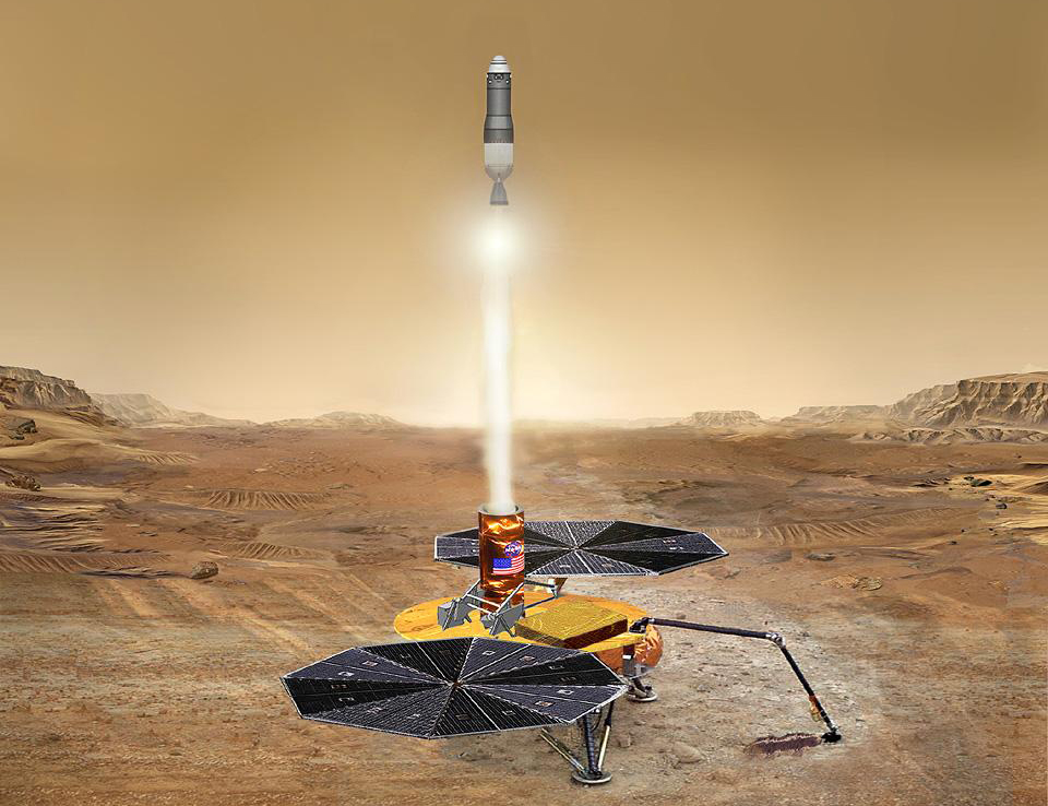 Artist's conception of the Mars Sample Return mission. Image source: NASA JPL Image credit: None