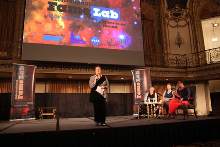 Mary Voytek, Program Scientist for Astrobiology at NASA, opens the AbSciCon 2015 Regional Heat of the FameLab USA competition. Credit: NASA Astrobiology