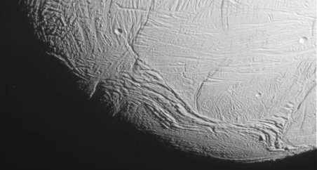 This unprocessed view of Saturn's moon Enceladus was acquired by NASA's Cassini spacecraft during a close flyby of the icy moon on Oct. 28, 2015. Credits: NASA/JPL-Caltech/Space Science Institute