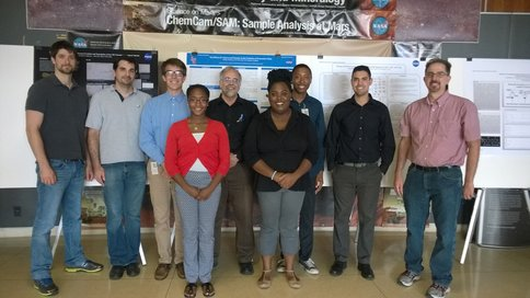 Figure 2.  The first Langston summer interns along with the Lab project's team members and additional summer interns.  Front row (L-R) Halina Garraway and Danielle Wright.  Back row (L-R) Chris Matere