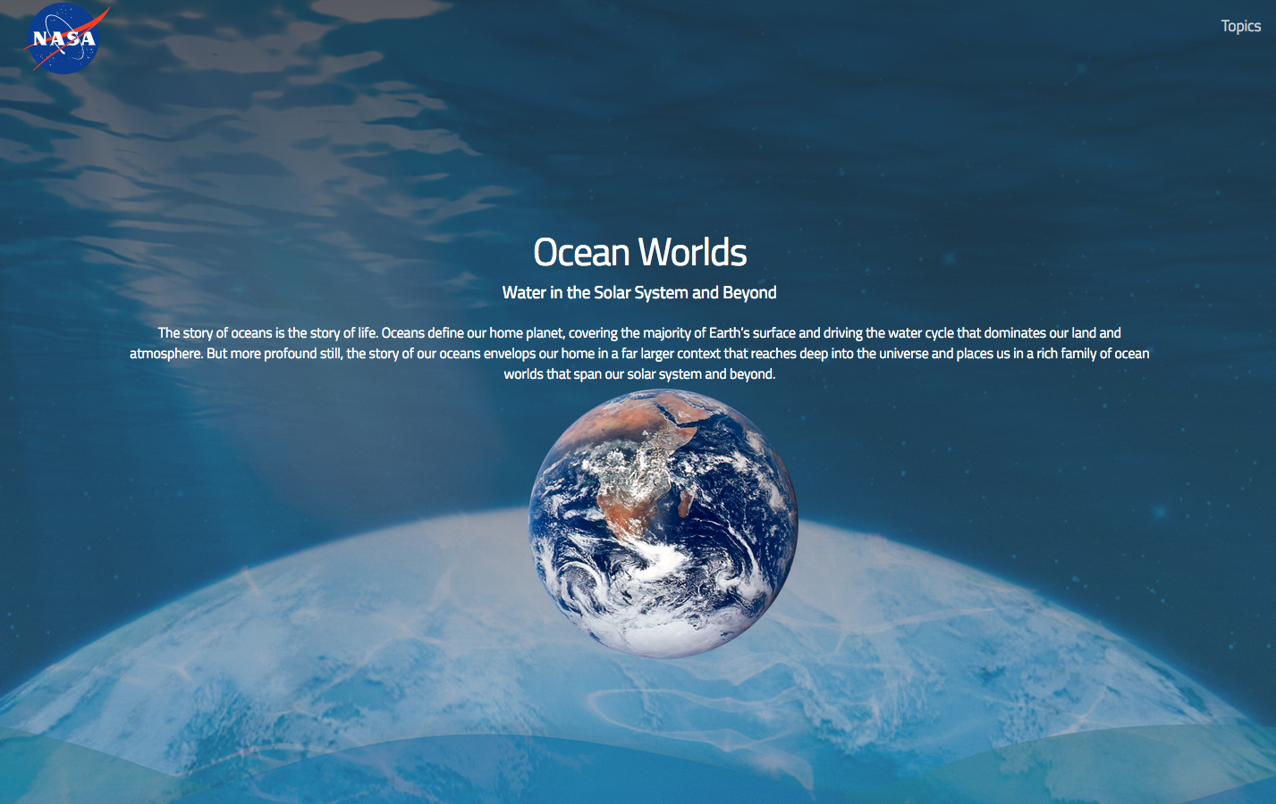 Ocean Worlds: Water in the Solar System and Beyond