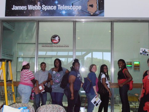 "DC Summer STARs Team Visits <span class=""caps"">JWST</span>"