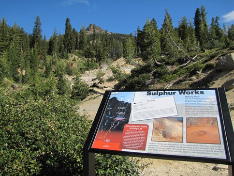 First Astrobiology Trailside Sign in California National Park