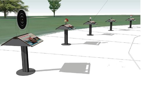 Figure 3 – Exhibit Stations With 3D Iconic Objects