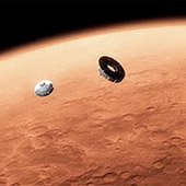 concept art of a mars mission