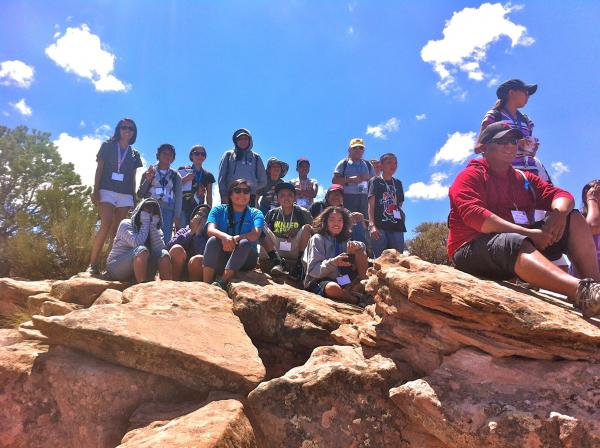 Students and counselors from NASA and the Navajo Nation project's 2012 Summer Camp at Canyon de Chelly National Monument. Source: NASA Image credit: None