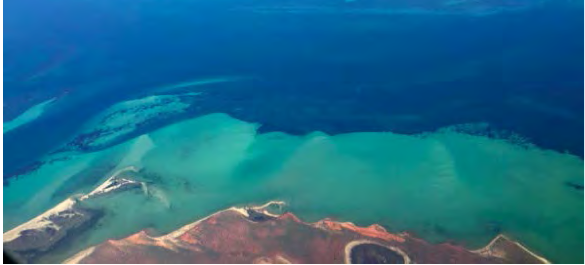 Overhead shot of Shark Bay. Source: ACA/UNSW. Image credit: