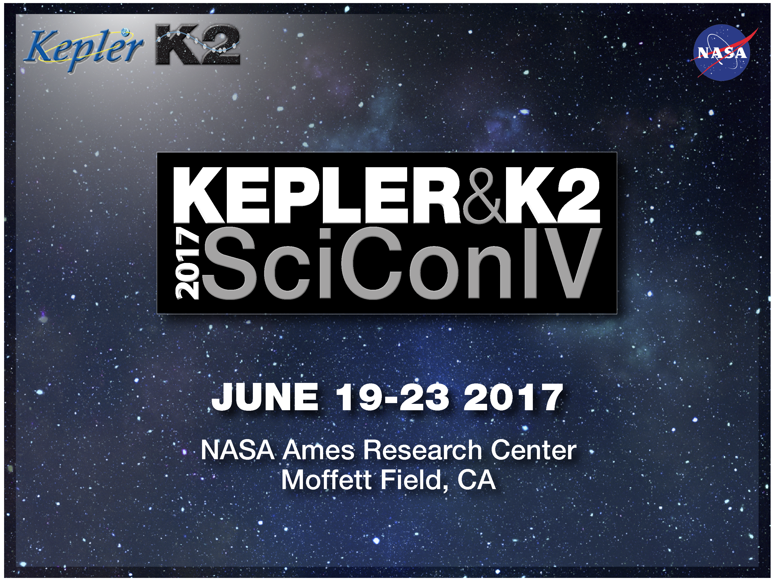 The Kepler & K2 Science Conference takes place June 19-23, 2017. Researchers and scientists unable to attend in-person can attend remotely. Image credit: None
