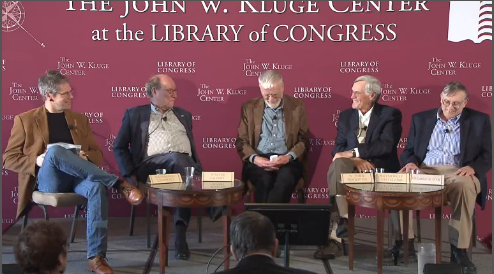 "Nathaniel Comfort, Walter Gilbert, W. Ford Doolittle, Ray Gesteland, and George E. Fox discuss the origins of the RNA World hypothesis at the Kluge Center. The webcast was recorded March 17, 2016. Source: <a href=""http://www.loc.gov/today/cyberlc/feature_wdesc.php?rec=7353"">Library of Congress</a> Image credit: None"