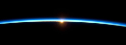 Earth's thin atmosphere is all that stands between life on Earth and the cold, dark void of space. Image credit: NASA