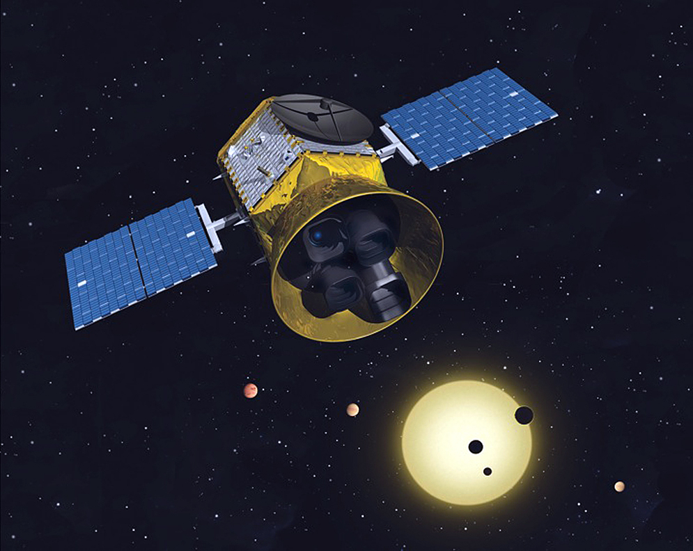 Transiting Exoplanet Survey Satellite (TESS) will look for planets around close, bright stars. Image credit: MIT