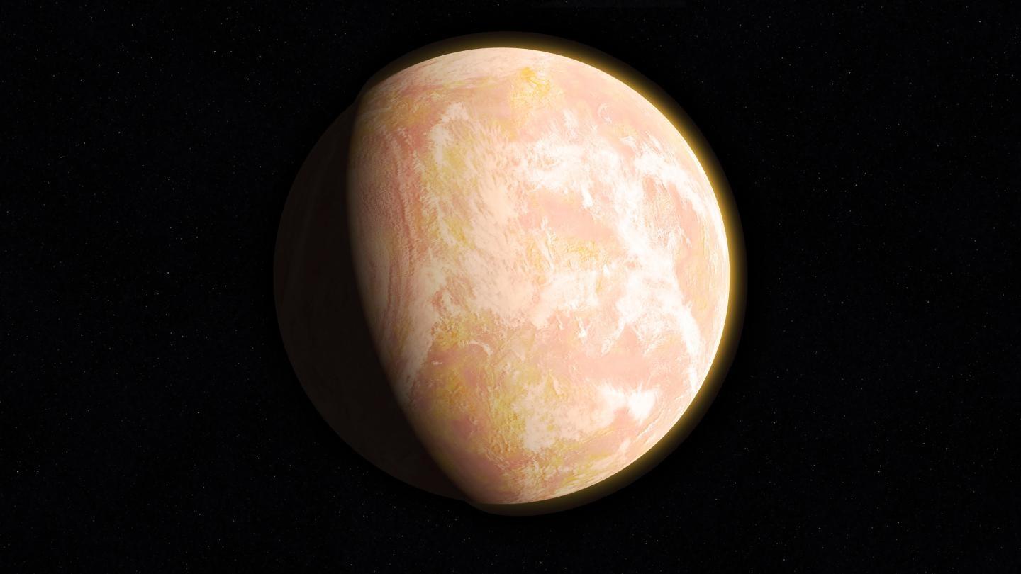 When haze built up in the atmosphere of Archean Earth, the young planet might have looked like this artist's interpretation — a pale orange dot. Image credit: NASA's Goddard Space Flight Center/Francis Reddy