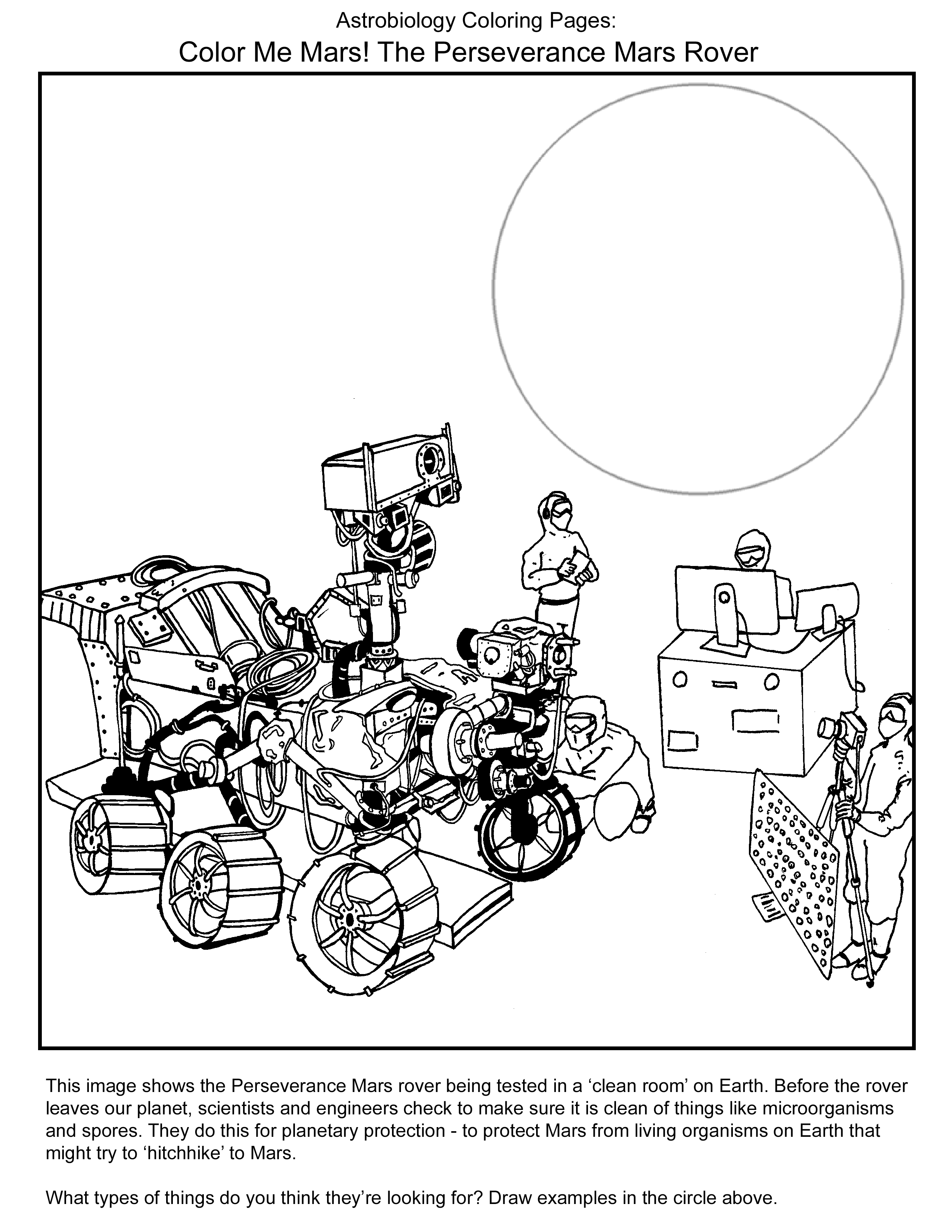 Astrobiology Coloring Pages Astrobiology