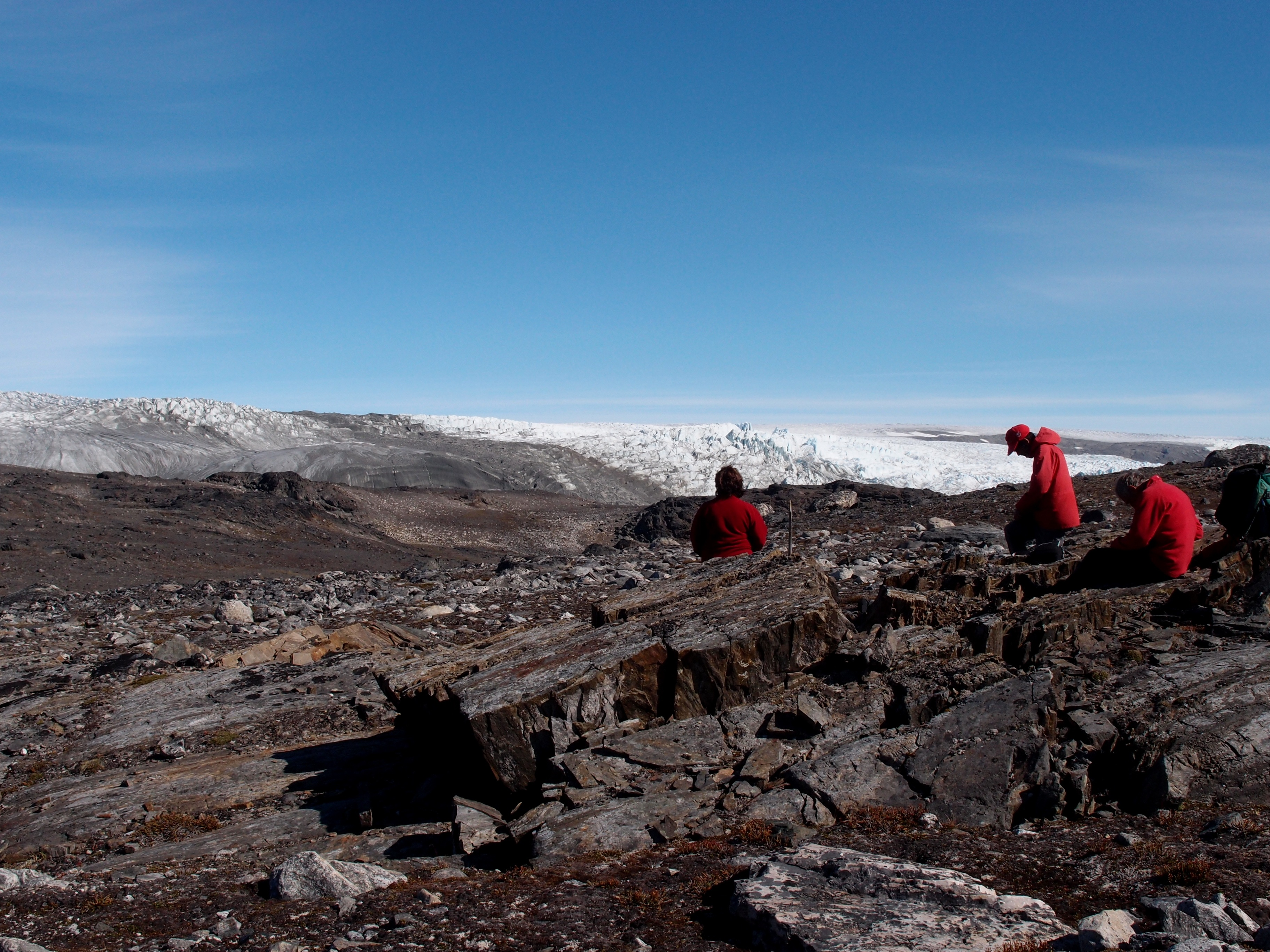 Scientists in Greenland excavating rocks that may hold 3.8-billion-year-old evidence of life. Credit: Laure Gauthiez Image credit: None