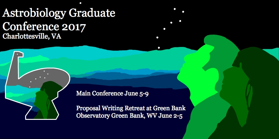 Astrobiology Graduate Conference (AbGradCon) 2017 takes place June 5-9, 2017 at the National Radio Astronomy Observatory in Charlottesville, VA. Image credit: None