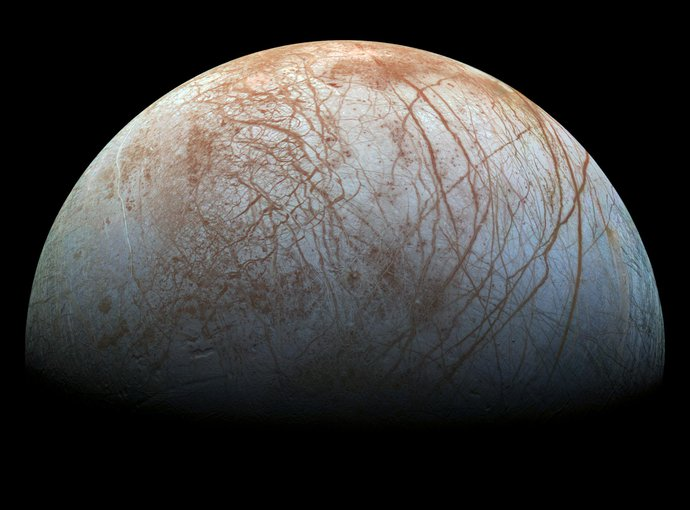 Serpentinization, which is believed to occur on Enceladus, may also happen on other moons such as Europa (pictured). Credit: NASA/JPL-Caltech/SETI Institute