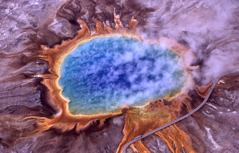 Extremophiles, such as the thermophiles that give the microbial mats such vivid colors in the hot springs in Yellowstone National Park, are a hot topic of study amongst astrobiologists in the UK.