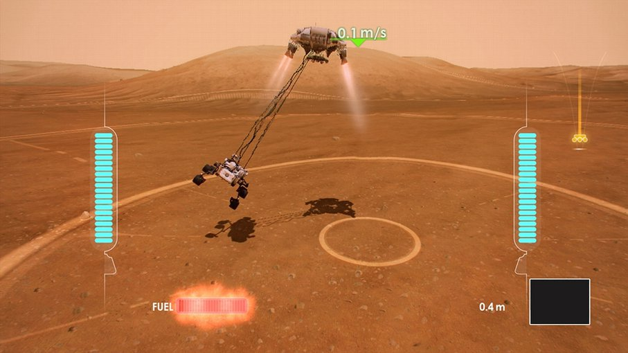 The video game, Mars Rover Landing, developed for Xbox Live.