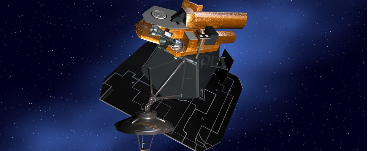 Artist impression of the Deep Impact (later EPOXI) spacecraft.