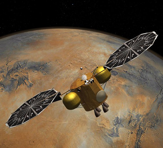Artist's concept of a proposed Mars sample return mission.