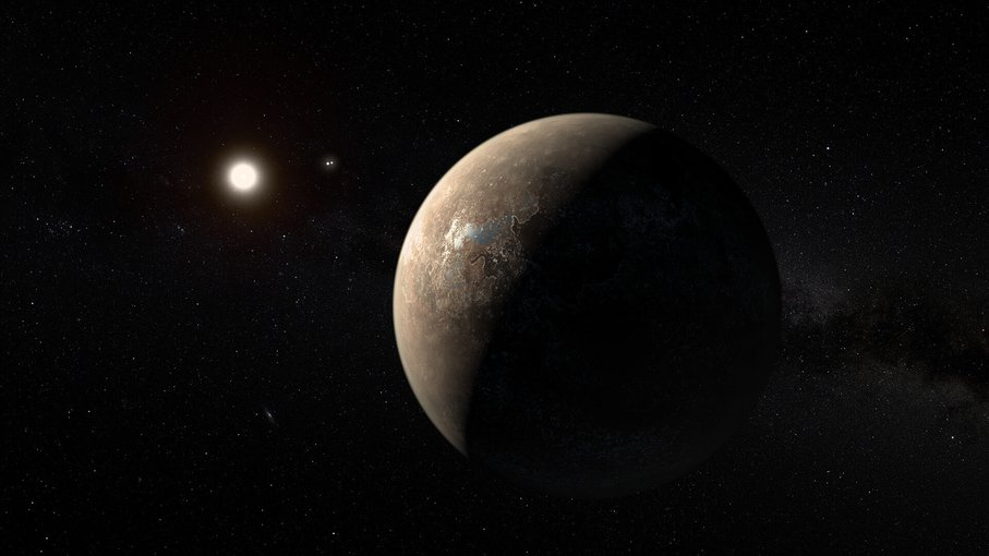 Artist's impression of the exoplanet Proxima Centauri b.