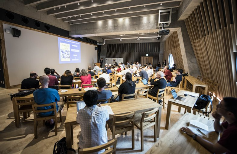 A group of scientists, historians and philosophers are gathered at the Earth-Life Science Institute in Tokyo, Japan to discuss the puzzling evolution of origin studies. Credit: Nerissa Escanlar