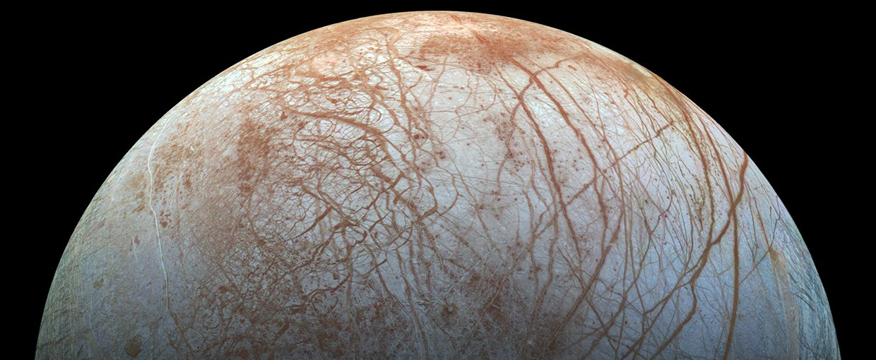Jupiter's moon Europa has an ocean hidden beneath a crust of ice and is a leading candidate in the search for other life in the Solar System.