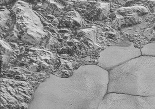 One of the surprises of the New Horizons mission was finding water ice mountains on Pluto, that quite possibly are floating on a subsurface ocean of liquid water.