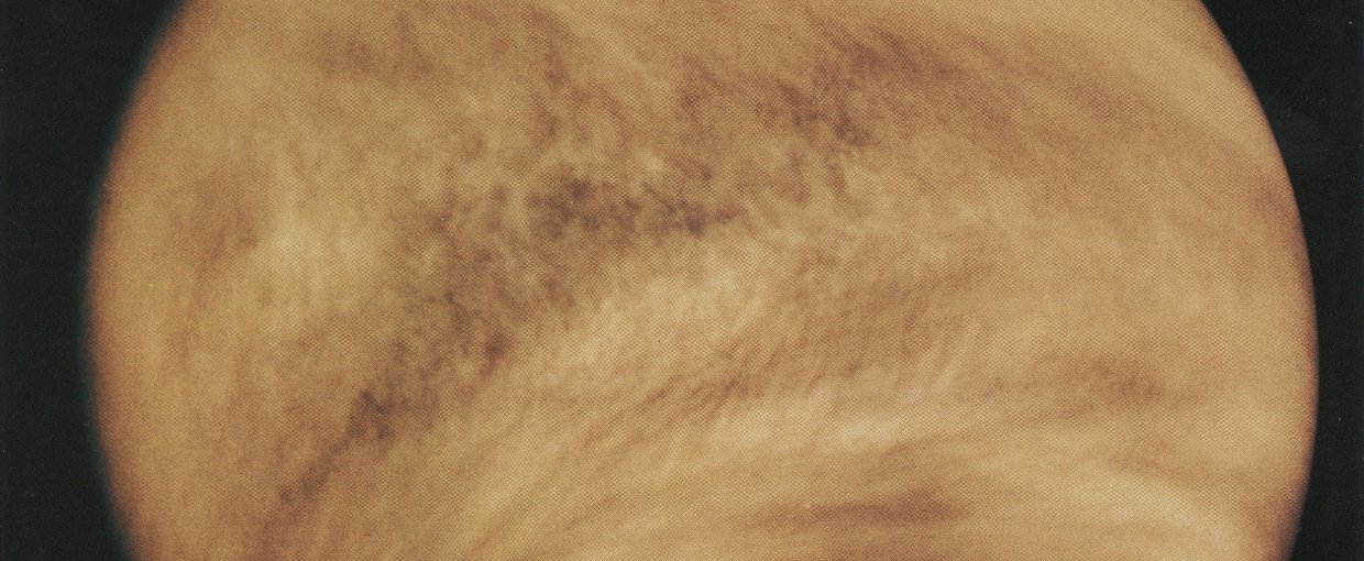 Pioneer Venus Orbiter ultraviolet observations of cloud structure in Venus' atmosphere. Credit: NASA