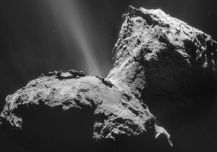 The two lobes of comet 67P, and the 'neck' joining them.