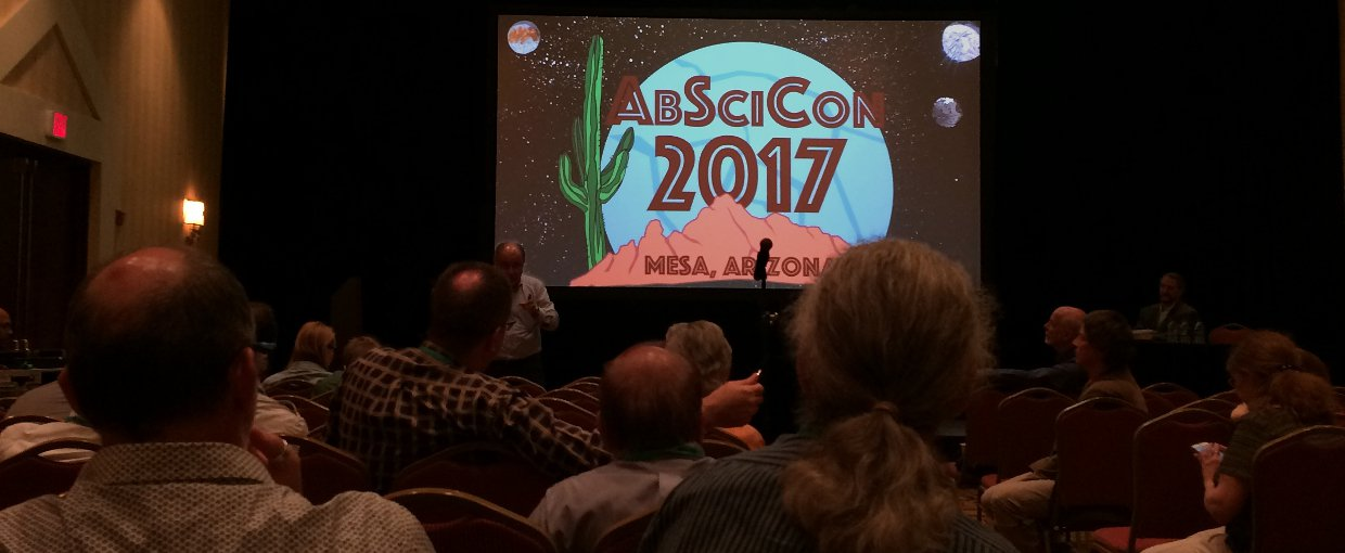 A technical session at AbSciCon 2017. Over 800 scientists attended the biennial conference, held this year in Mesa, Arizona.