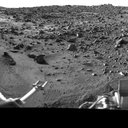 During the Viking Mission, the Viking Lander Camera System acquired many high-resolution images of the scene at Chryse Planitia.