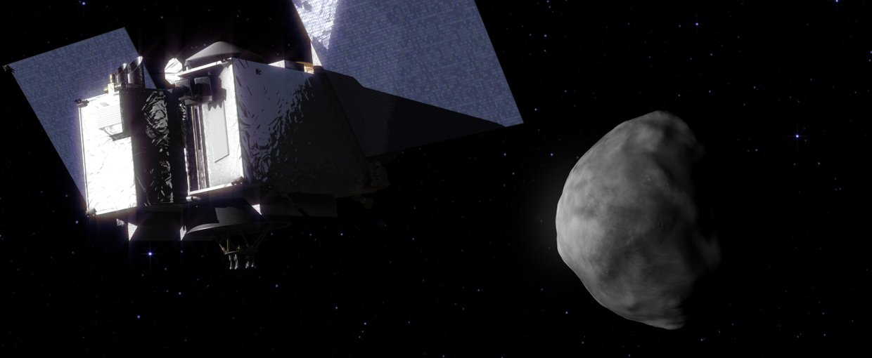 Artist's impression of the arrival of OSIRIS-REx at its target.