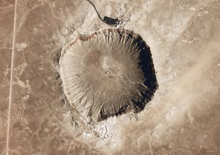 Meteor Crater (also known as Barringer Crater) in Arizona, United States of America.