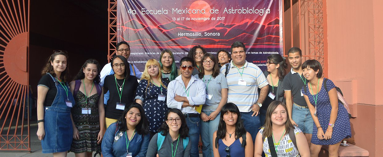 Participating students at SOMA's fourth National Astrobiology School in Sonora, Mexico, in 2017.