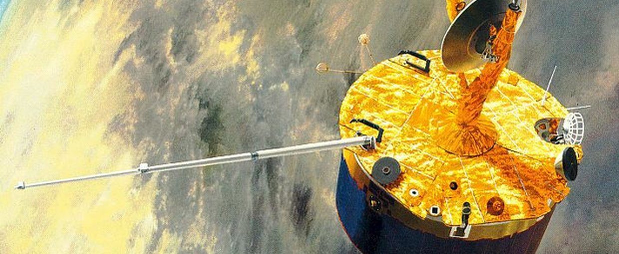 Artist's impression of the Pioneer Venus orbiter. Credit: NASA