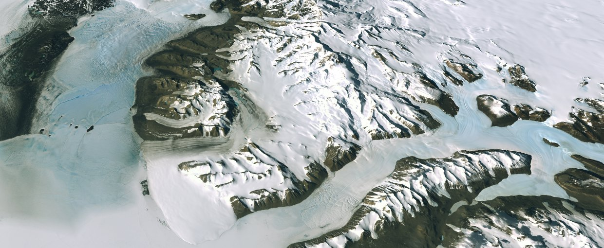 This image shows the Dry Valleys region near Antarctica's McMurdo Station. This image was requested by Dr. Ed Dunlea for an International Polar Year report at the National Academy of Sciences.