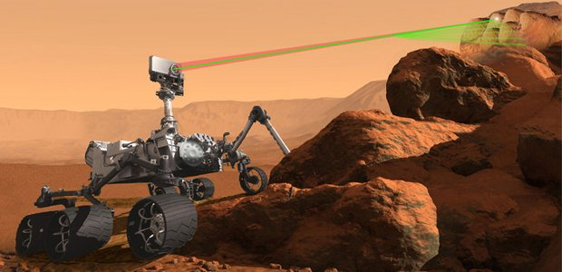 An artist's rendering of the SuperCam instrument aboard the next generation Mars rover scheduled to visit the Red Planet in 2020. Image Credit: NASA