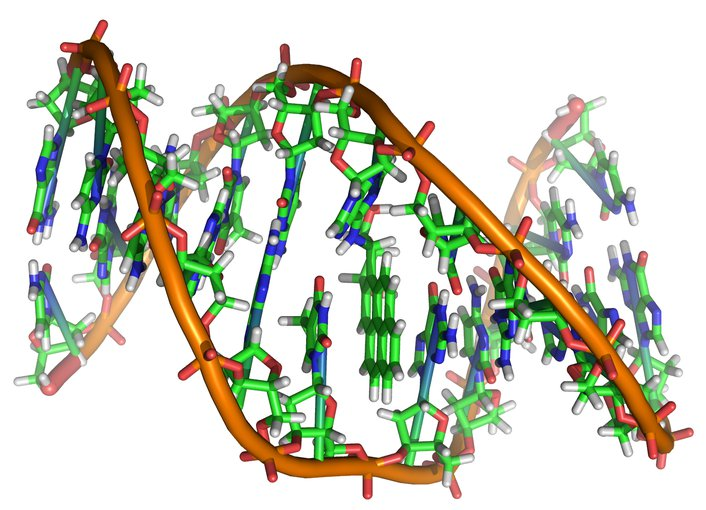 Artist illustration of DNA.