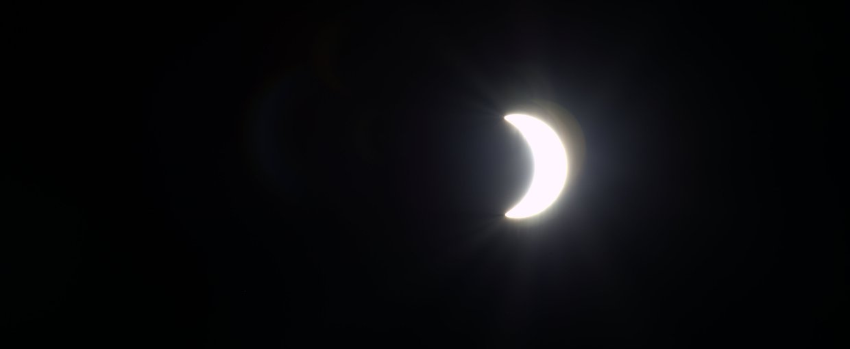 Expedition 43 Flight Engineer Samantha Cristoforetti took a series of photographs of the March 20, 2015 solar eclipse from the International Space Station.