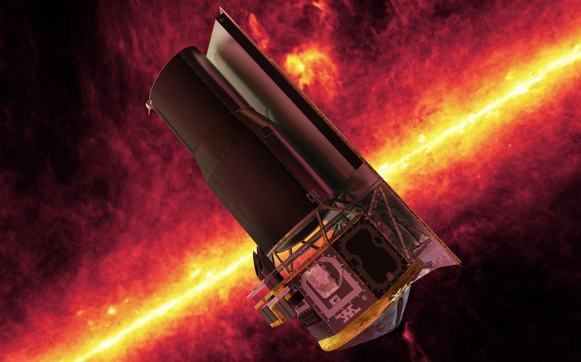 Artist concept of the Spitzer Space Telescope.