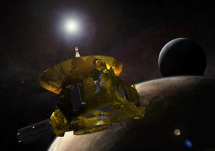 Artist concept of the New Horizons spacecraft.